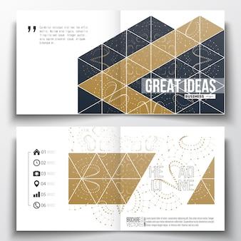 Conception de modèle de brochure carré.