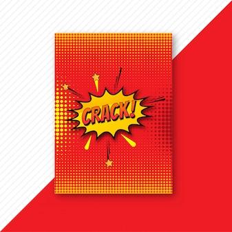 Conception de modèle de brochure comique coloré pop art