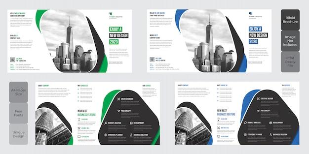 Conception de modèle de brochure corporate square à deux volets