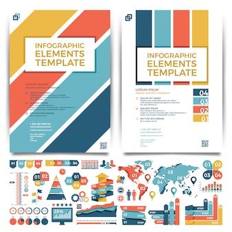 Conception de modèle de brochure. couverture et infographie.