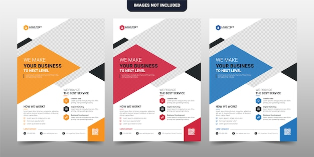 Conception de modèle de brochure creative corporate & business flyer