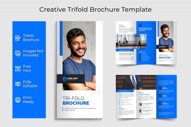 Conception de modèle de brochure créative à trois volets