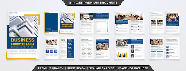 Conception de modèle de brochure à deux volets entreprise a4 avec une mise en page minimaliste et propre