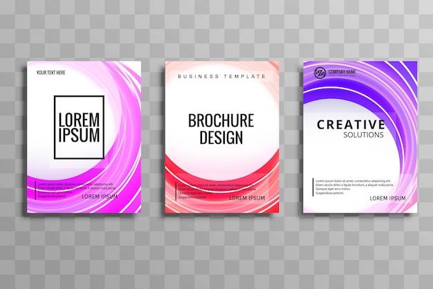 Conception de modèle de brochure élégante buisness brochure