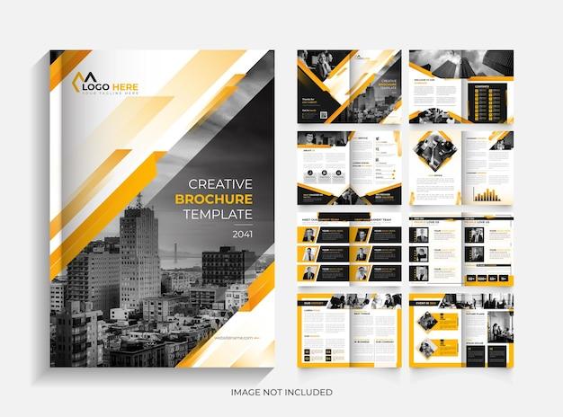 Conception de modèle de brochure d'entreprise de 16 pages