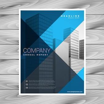 Conception de modèle de brochure entreprise abstraite bleu