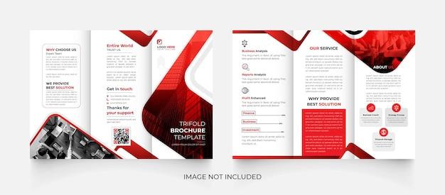 Conception de modèle de brochure d'entreprise créative à trois volets