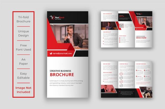 Conception de modèle de brochure d'entreprise à trois volets