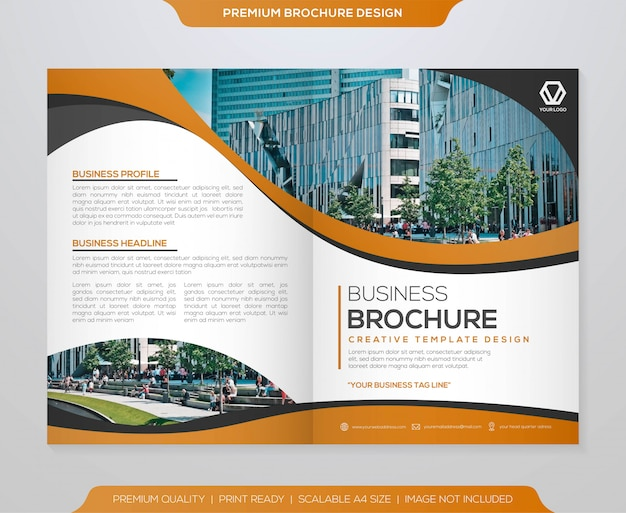 Conception de modèle de brochure minimaliste