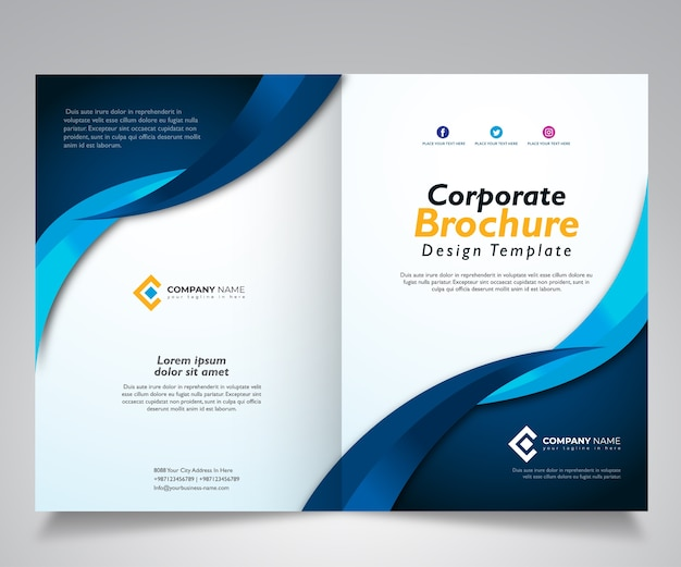 Conception de modèle de brochure, modèle de conception d'entreprise