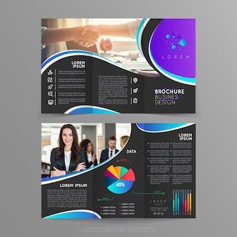 Conception de modèle de brochure pour vos présentations