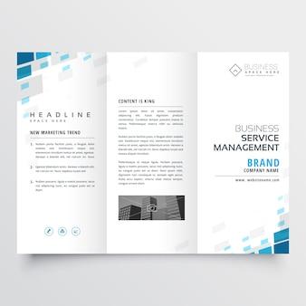 Conception de modèle de brochure simple affaires trifold