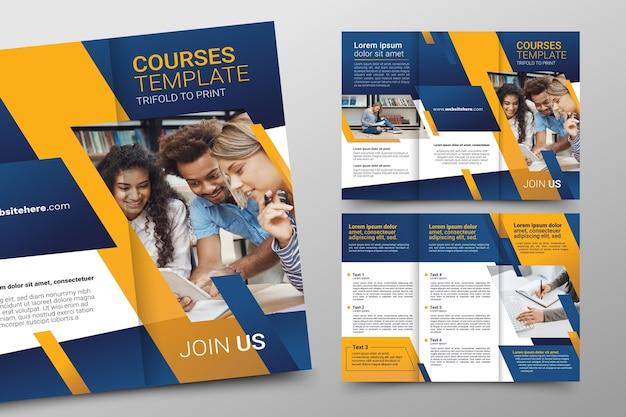Conception de modèle de brochure à trois volets abstraite