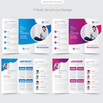 Conception de modèle de brochure à trois volets