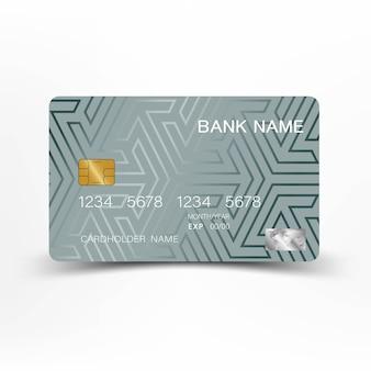 Conception de modèle de carte de crédit moderne.