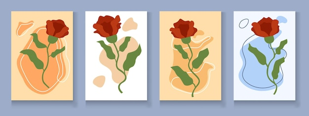 Conception de modèle de carte d'invitation botanique, style vintage minimaliste de plante philodendron à feuilles fendues vertes