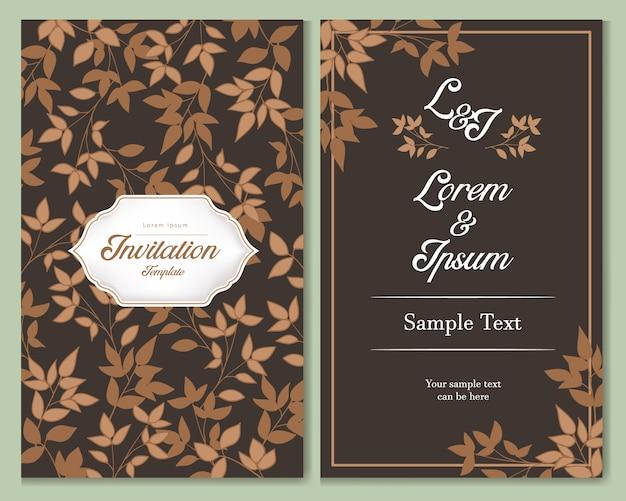 Conception de modèle de carte d'invitation.