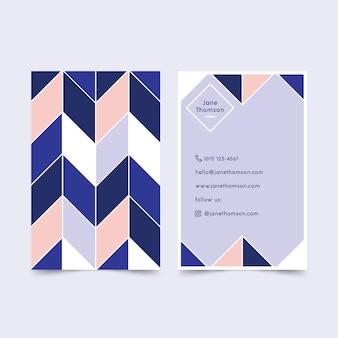 Conception de modèle de carte de visite bleu classique abstrait
