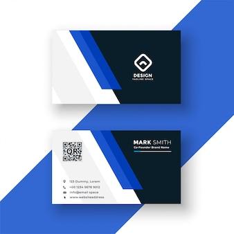 Conception de modèle de carte de visite bleue professionnelle