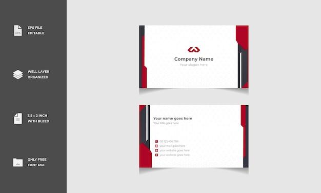 Conception de modèle de carte de visite élégant et moderne minimal