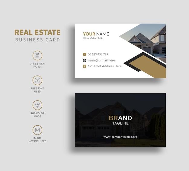 Conception de modèle de carte de visite immobilière