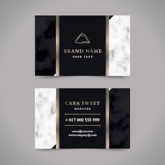 Conception de modèle de carte de visite de luxe