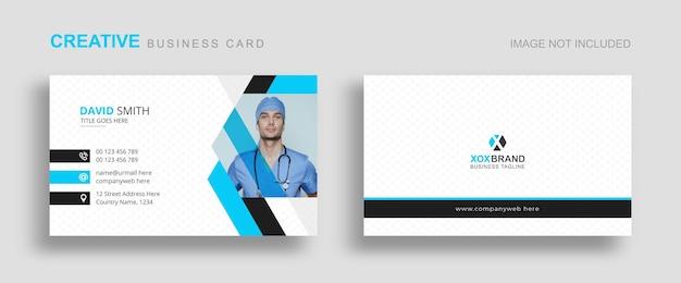 Conception de modèle de carte de visite médicale