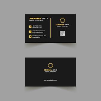 Conception de modèle de carte de visite avec une mise en page moderne
