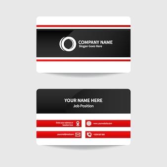 Conception de modèle de carte de visite moderne d'entreprise