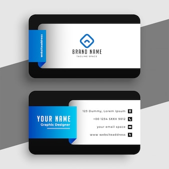 Conception de modèle de carte de visite professionnelle bleu moderne