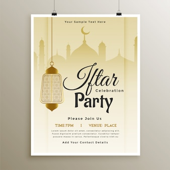 Conception de modèle de célébration de partie de ramadan iftar