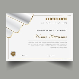 Conception de modèle de certificat de diplôme moderne