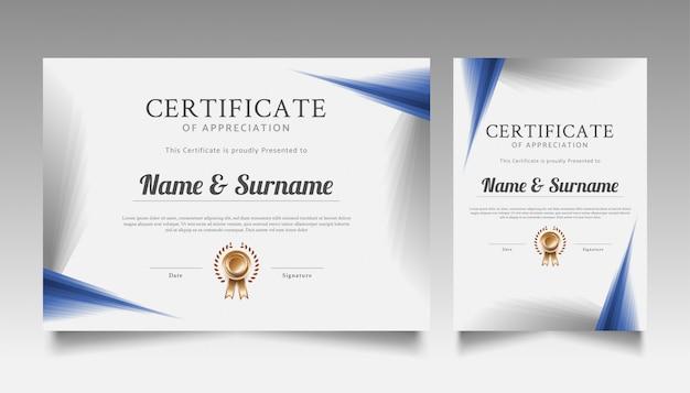Conception de modèle de certificat géométrique moderne