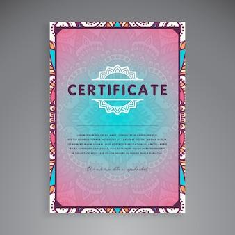 Conception de modèle de certificat professionnel