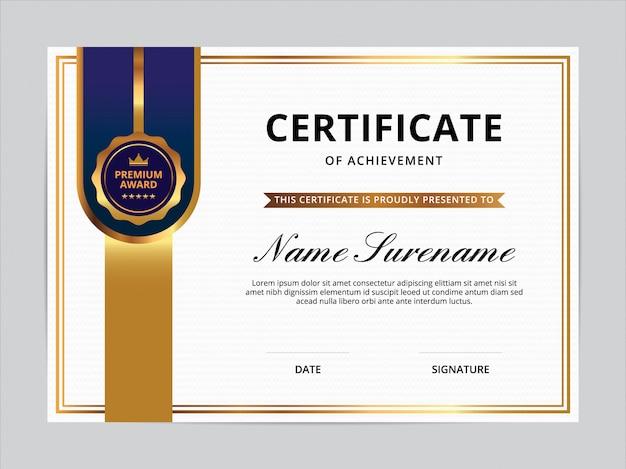Conception de modèle de certificat