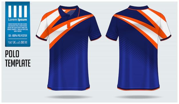 Conception de modèle de chemise de polo.