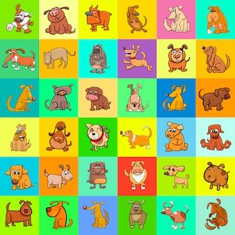 Conception de modèle de chiens de dessin animé