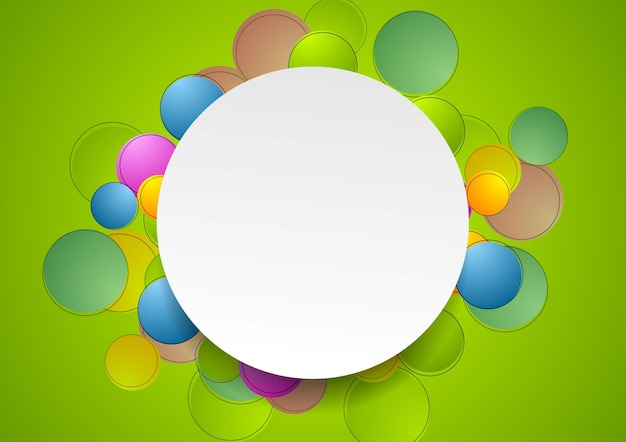 Conception de modèle coloré abstrait avec des cercles. fond de vecteur