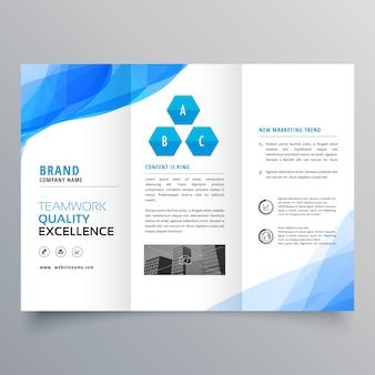 Conception de modèle de conception de brochure abstrait bleu