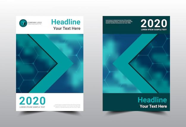 Conception de modèle de couverture de livre d'affaires.