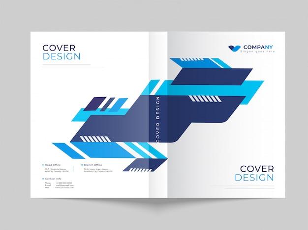 Conception de modèle de couverture promotionnelle pour les entreprises ou le secteur des entreprises.