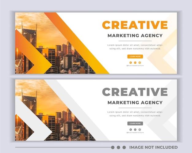 Conception de modèle de couverture promotionnelle pour les médias sociaux de l'agence