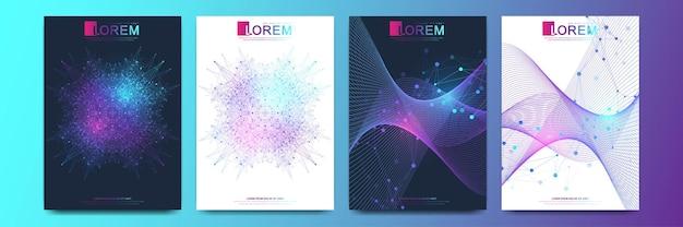 Conception de modèle de couverture de soins de santé moderne pour une conception de rapport et de brochure médicale
