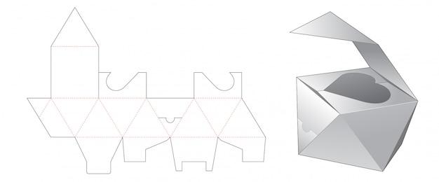 Conception de modèle de découpe de boîte cadeau