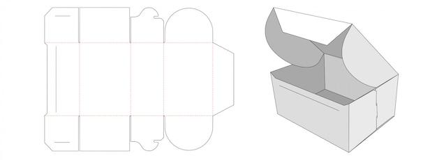 Conception de modèle découpé à l'emporte-pièce pour boîte d'emballage pliée