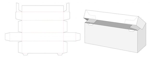 Conception de modèle découpé à l'intérieur de la boîte d'emballage de verrouillage automatique