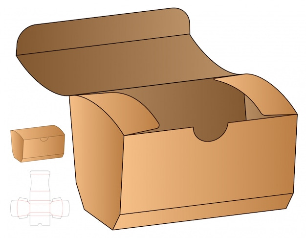 Conception de modèle découpé sous emballage. 3d