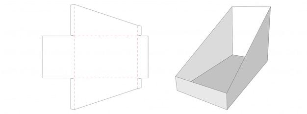 Conception de modèle découpé sous emballage d'emballage de comptoir