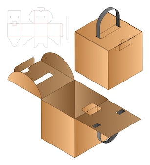 Conception de modèle découpé sous emballage.