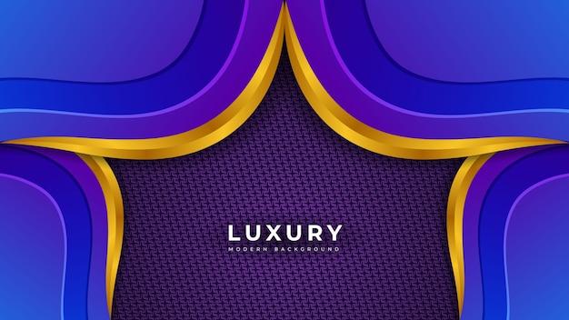 Conception de modèle d'éclairage de luxe de couleur bleue moderne